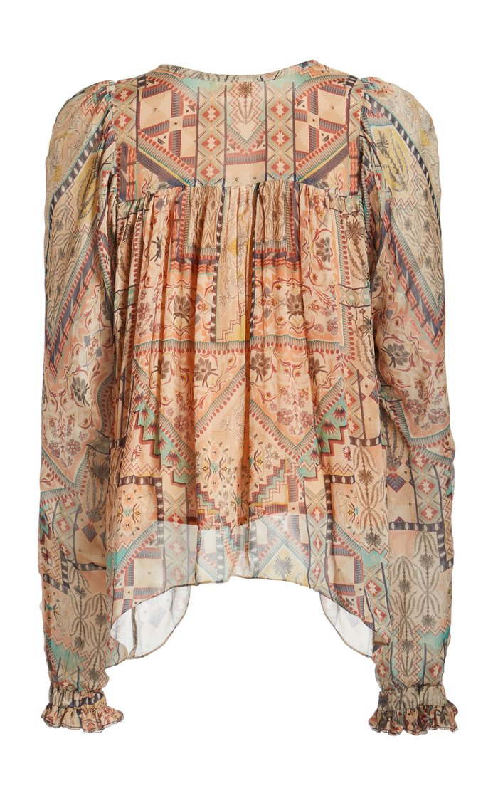Arnaq Printed Crinkled Georgette Top