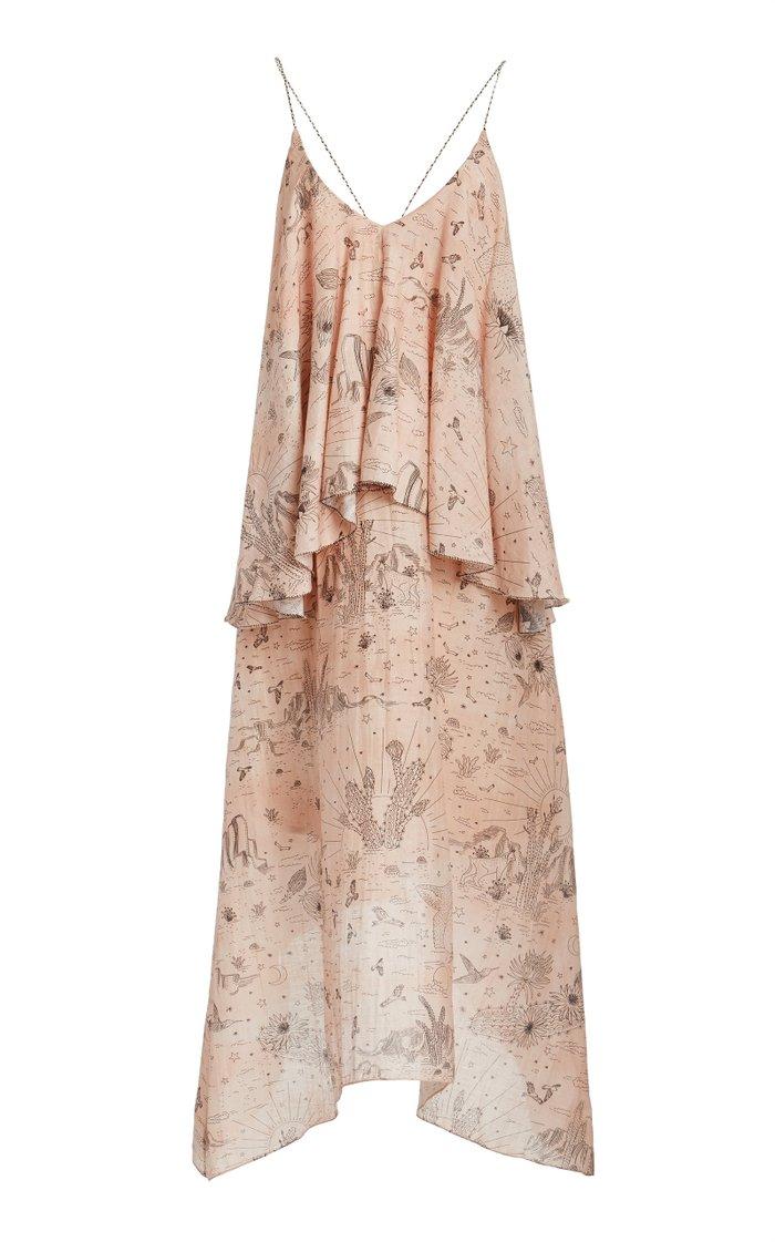 Willka Printed Cotton Silk Voile Dress