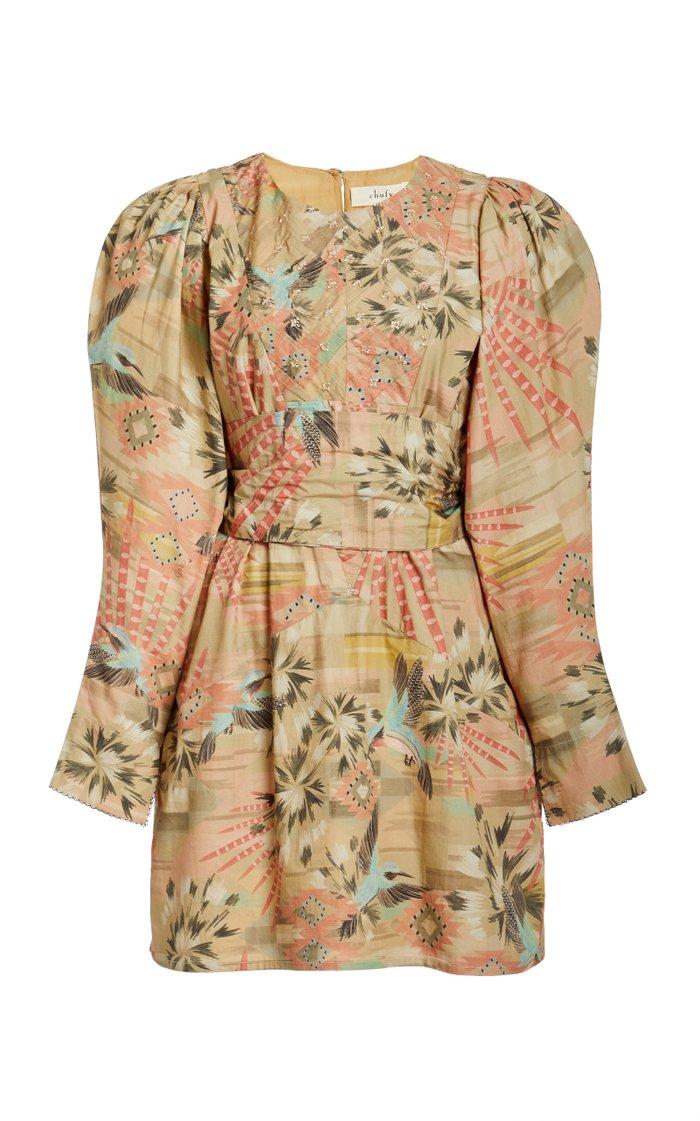 Nanuk Printed Cotton Canvas Mini Dress