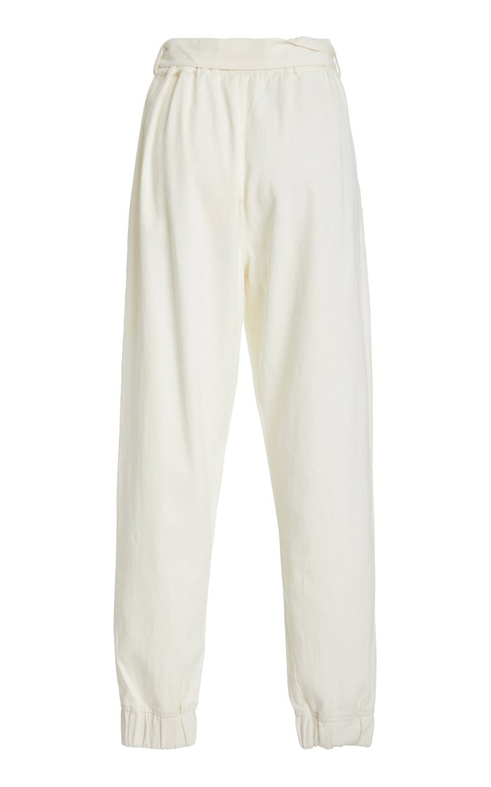 Gouyen Belted Cotton Gabardine Pant