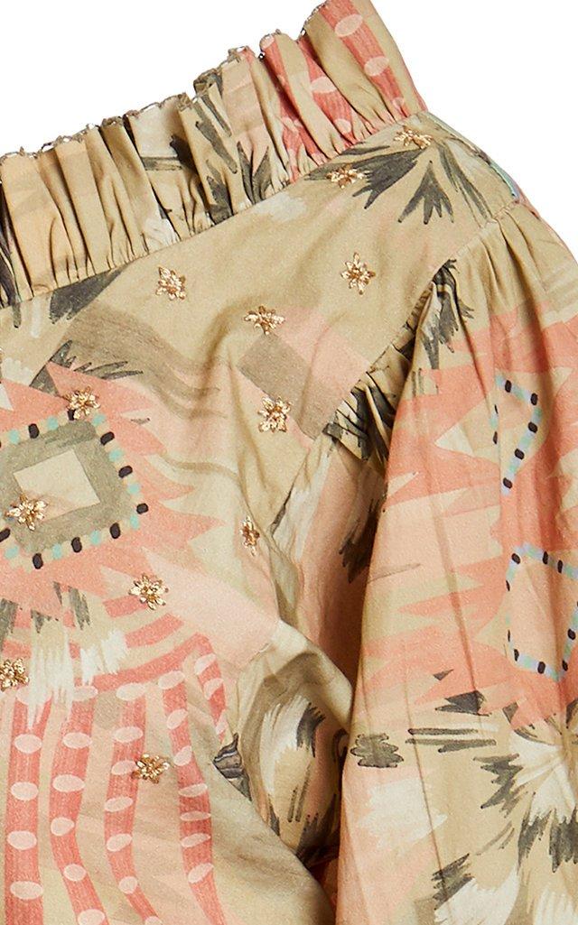 Nanuk Printed Cotton One-Shoulder Top