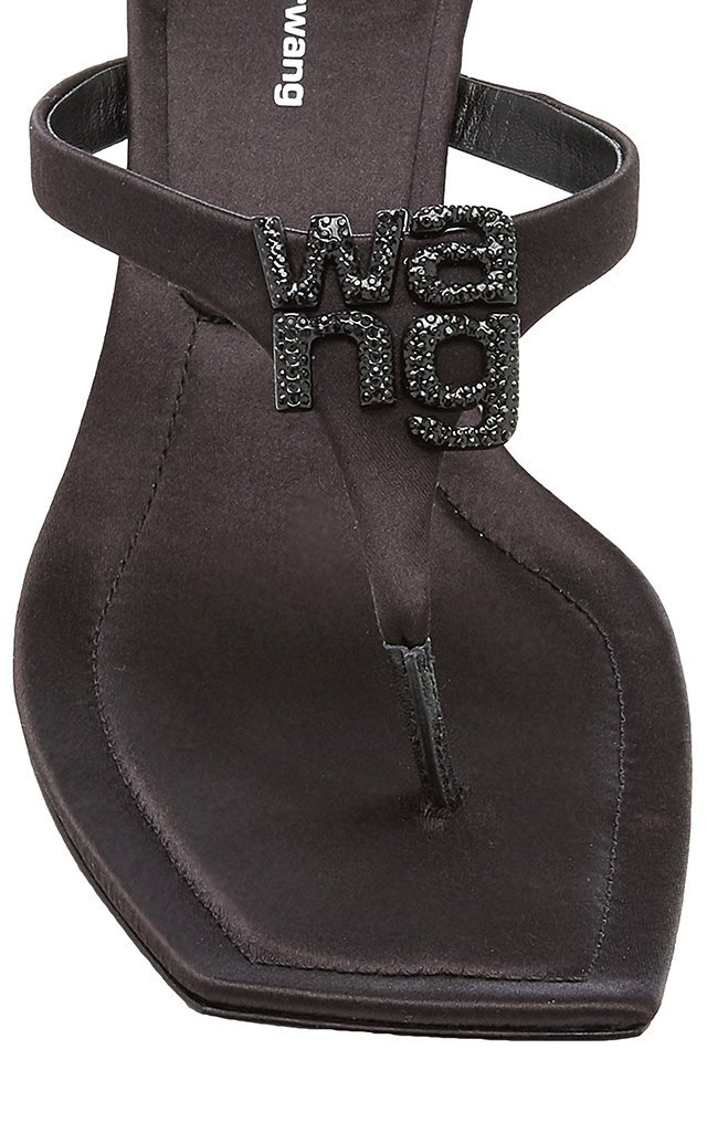 Bianca Embellished Satin Thong Sandals