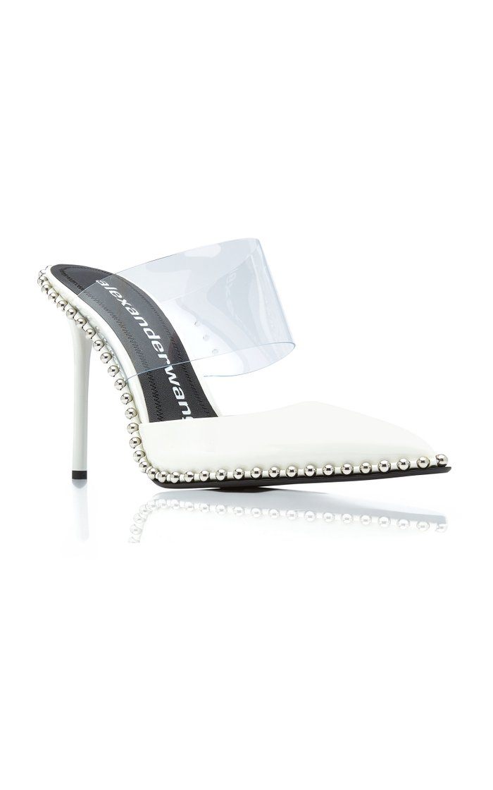 Rina Patent Leather and PVC Mules