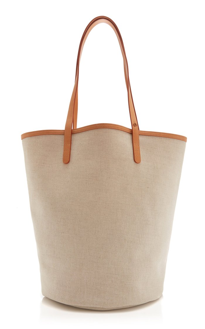 Circle Canvas Bucket Bag