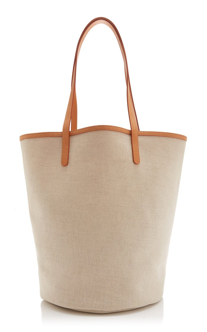 Circle Canvas Bucket Bag