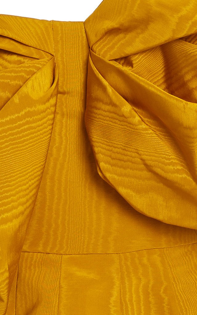 Bow-Embellished Moiré Mini Dress