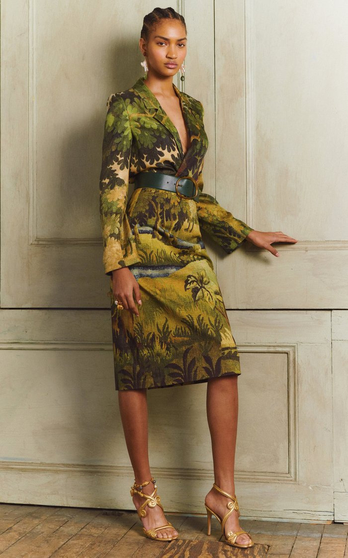Cotton-Jacquard Skirt