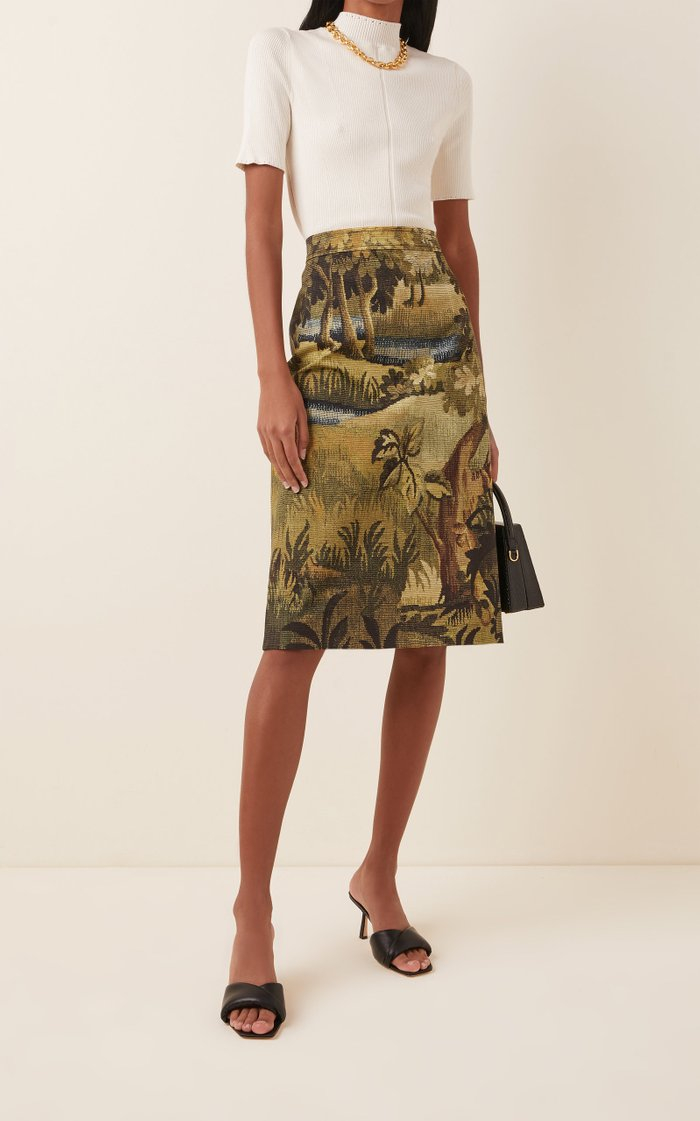 Cotton-Jacquard Skirt