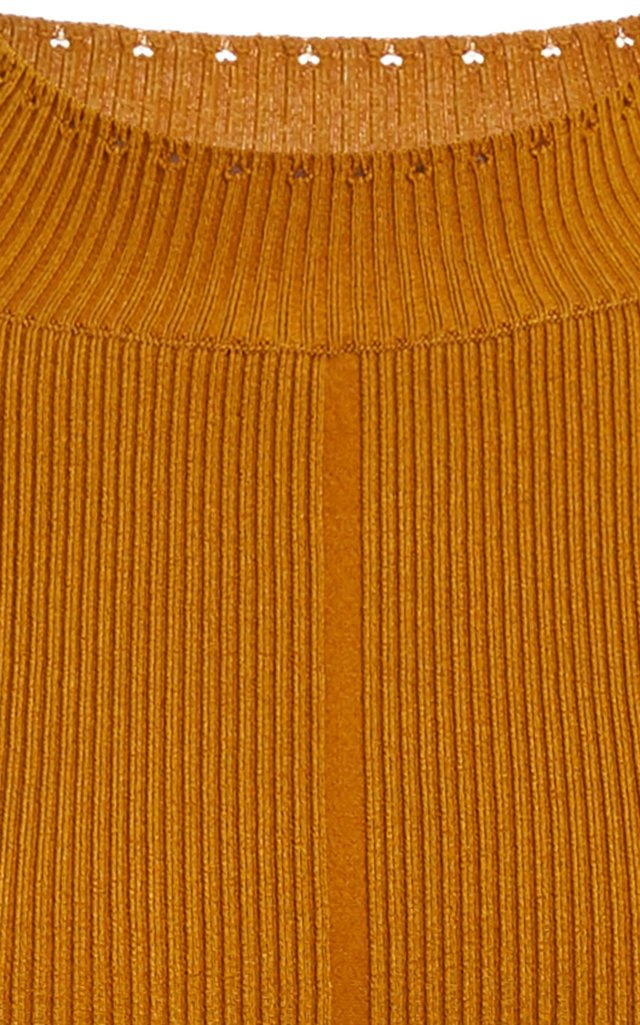 Ribbed Stretch-Silk Top