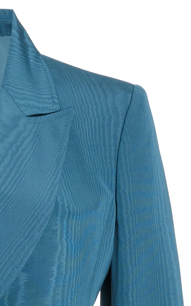 Moiré Cotton-Blend Double-Breasted Blazer
