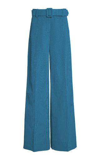 Moiré Wide-Leg Pants