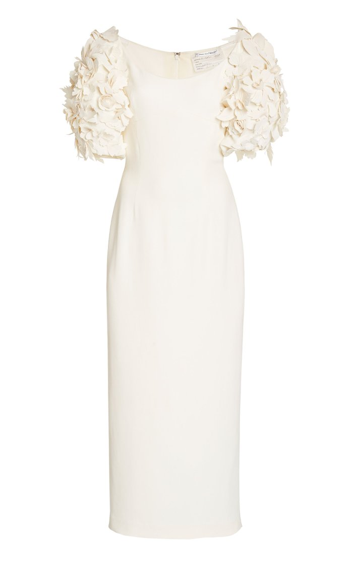 Embellished Crepe De Chine Gown