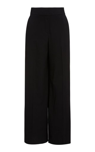 Pintucked Wide-Leg Pants