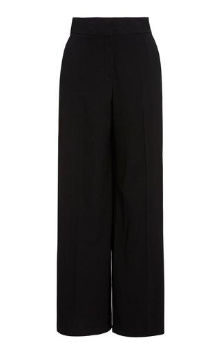 Pintucked Wide-Leg Pants