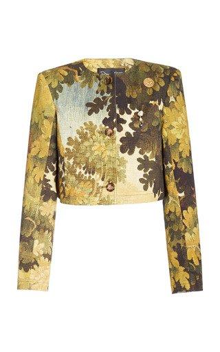 Printed Cropped Jacket