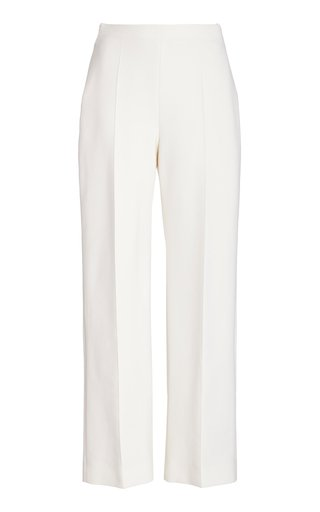 High-Rise Crepe Pants