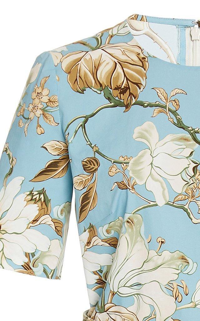 Belted Floral Day Dress