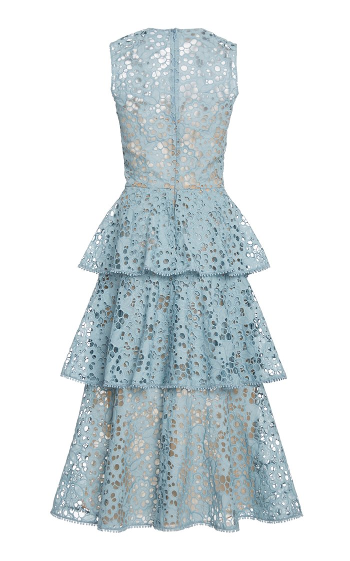 Tiered Broderie Anglaise Dress