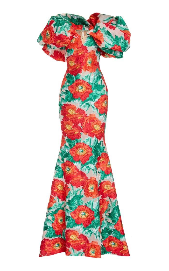 Floral Off-The-Shoulder Gown