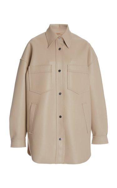 Martin Oversized Vegan Leather Jacket