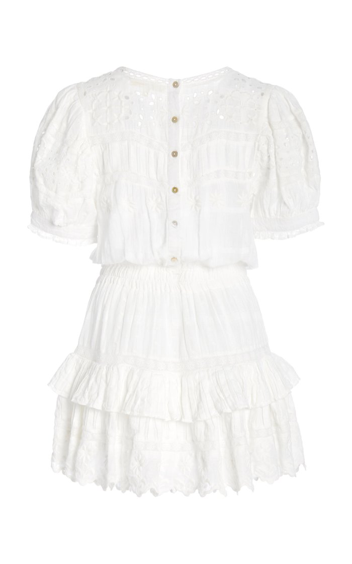 Augustine Broderie Anglaise Cotton-Voile Mini Dress