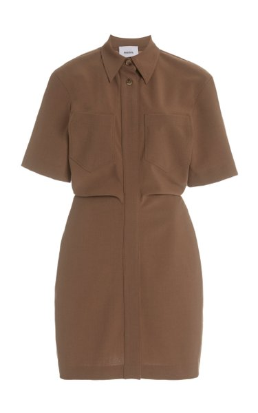 Mika Crepe Mini Shirt Dress