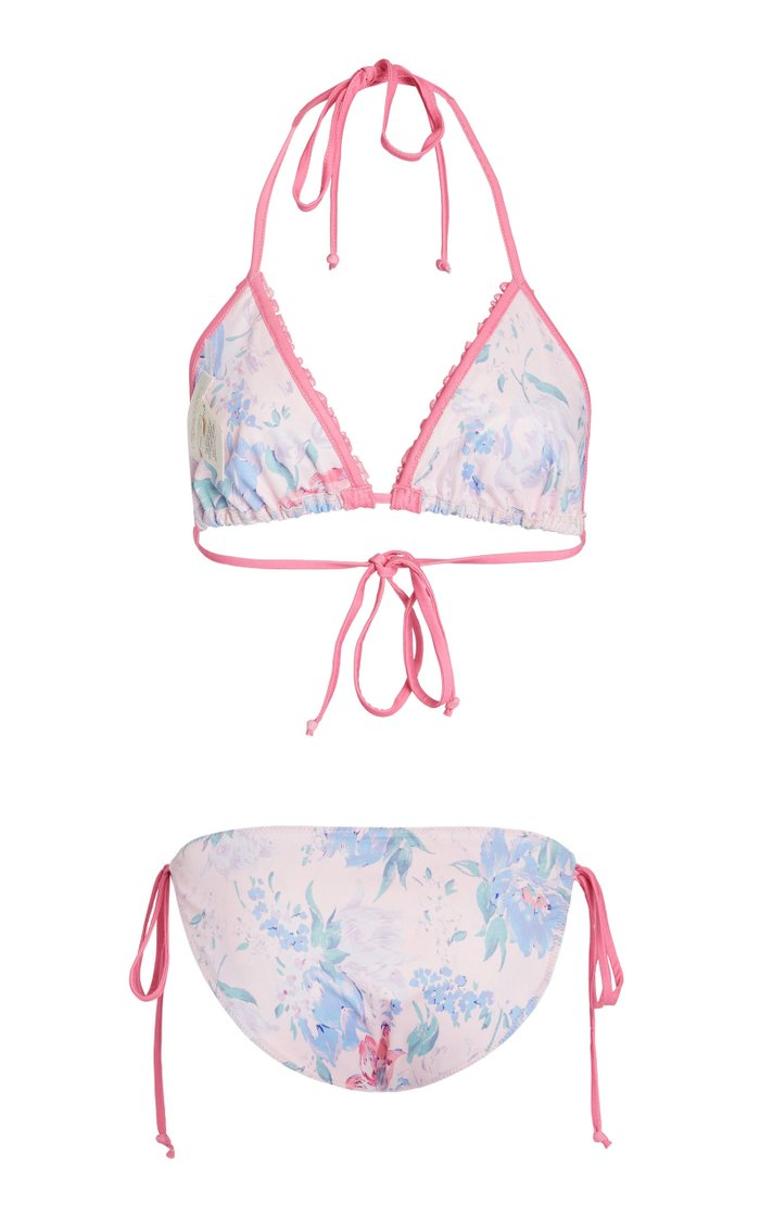 Harbor Ruffled Floral-Print Bikini Set