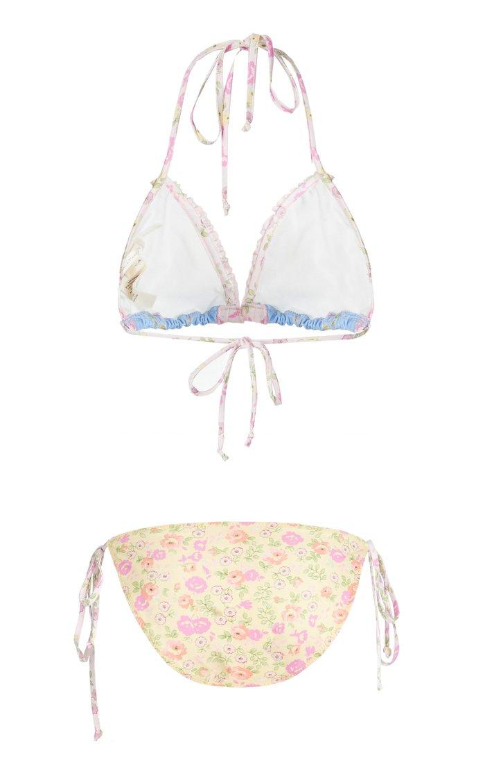 Harbor Ruffled Floral-Print Bikini Set