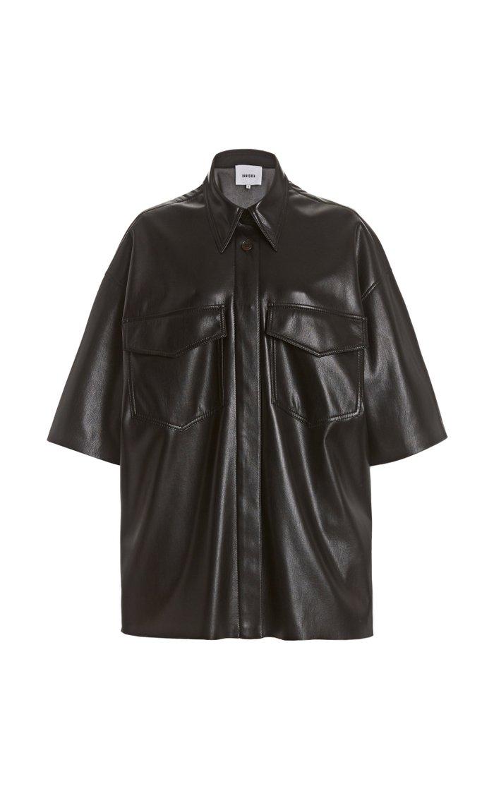 Roque Oversized Vegan Leather Shirt