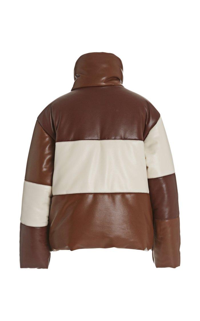 Hide Color-Block Quilted Vegan Leather Jacket
