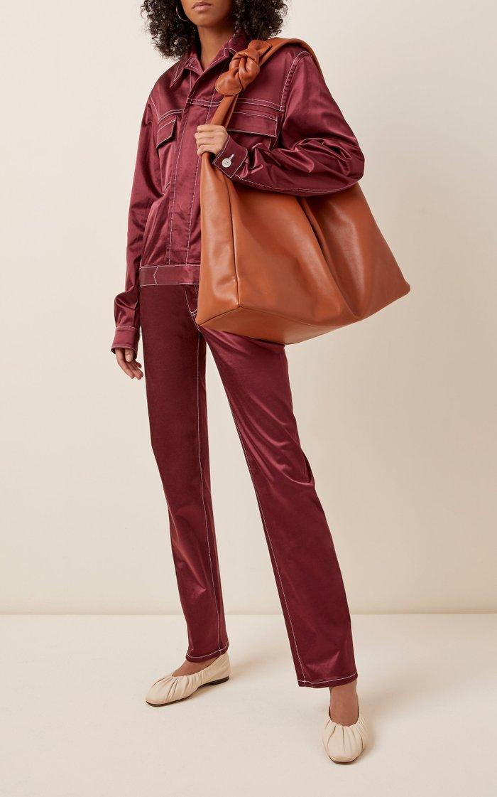 Large Island Leather Shoulder Bag