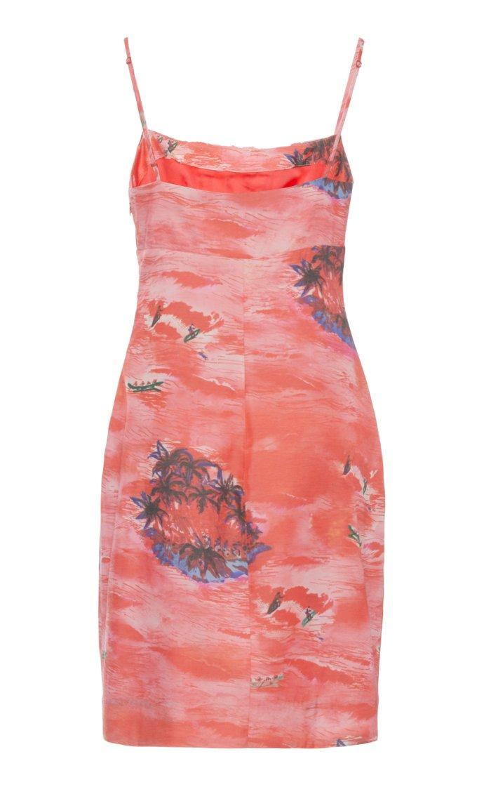Bell Printed Rayon Mini Dress
