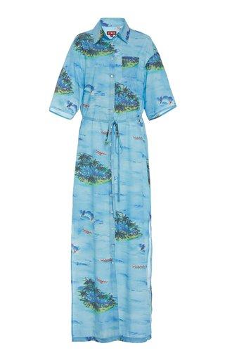 Cameron Printed Rayon Shirt Dress