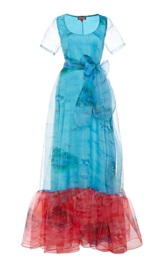 Hala Printed Hem Gown