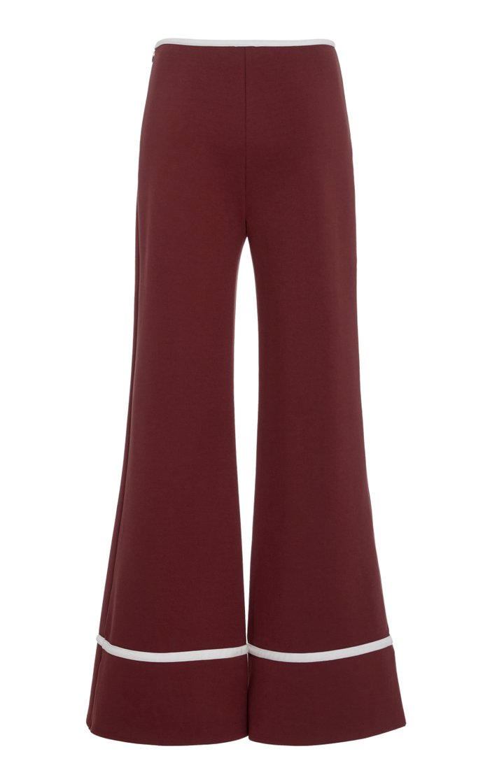 Julian Cropped Wide-Leg Ponte Pants