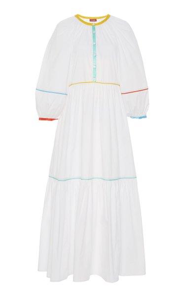 Demi Rainbow Cotton-Poplin Midi Dress