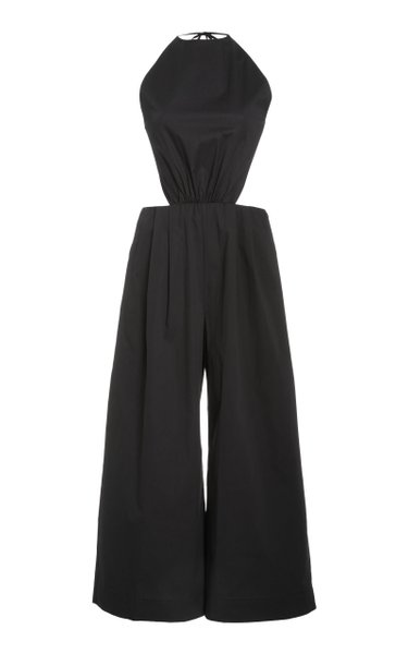 Kauai Cut-Out Cotton Poplin Jumpsuit
