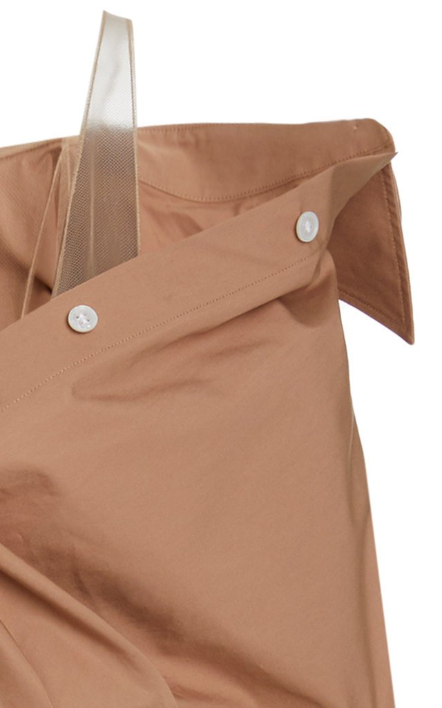 Asymmetric Cotton Deconstructed Mini Shirt Dress