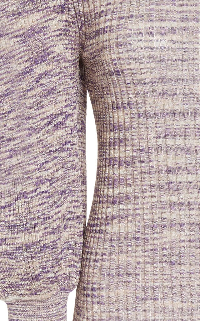 Josie Metallic Stretch-Knit Turtleneck