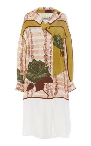 Harriman Printed Silk Shift Dress