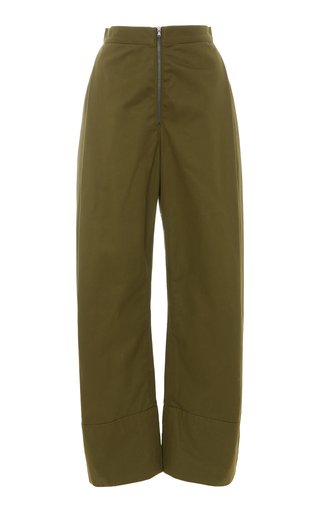Vice High-Rise Organic Cotton Straight-Leg Pants
