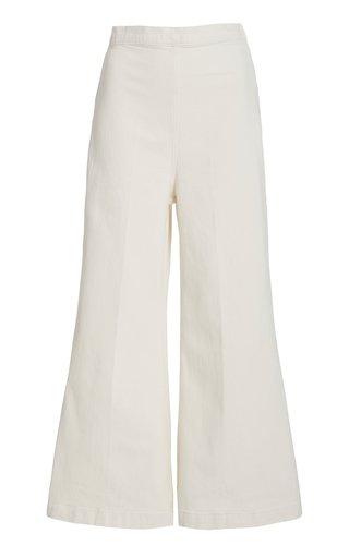 Absolute High-Rise Wide-Leg Cotton-Blend Pants