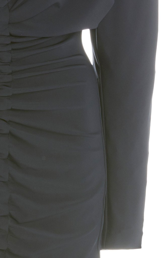 Ruched Matte Jersey Mini Dress