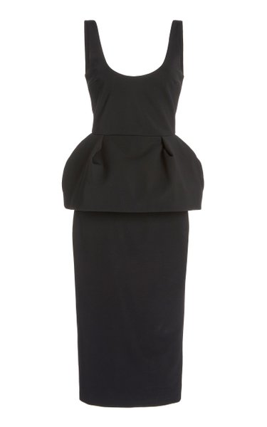 Scoop Neck Peplum Dress