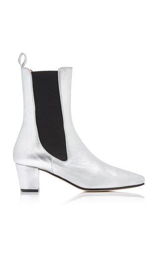 Metallic Leather Chelsea Boots