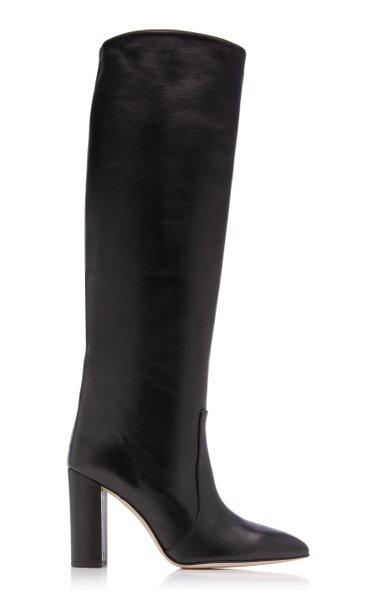 Slouchy Leather Knee Boots