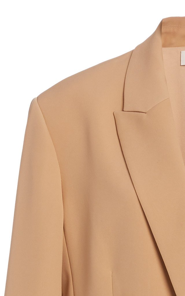 Double-Breasted Cady Blazer