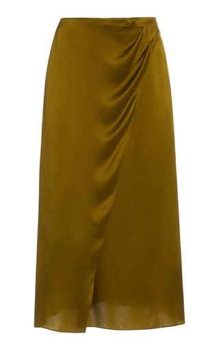 Silk-Satin Wrap Skirt