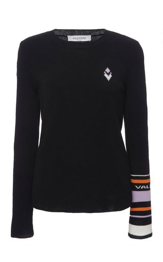 Logo-Detailed Wool Cashmere Sweater
