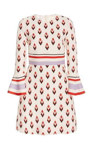 Printed Wool-Silk Mini Dress